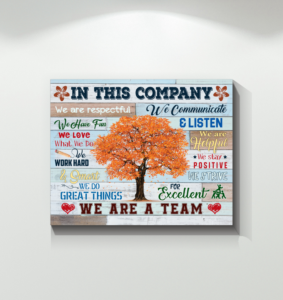 In This Company Canvas We Do Great Things We Are A Team