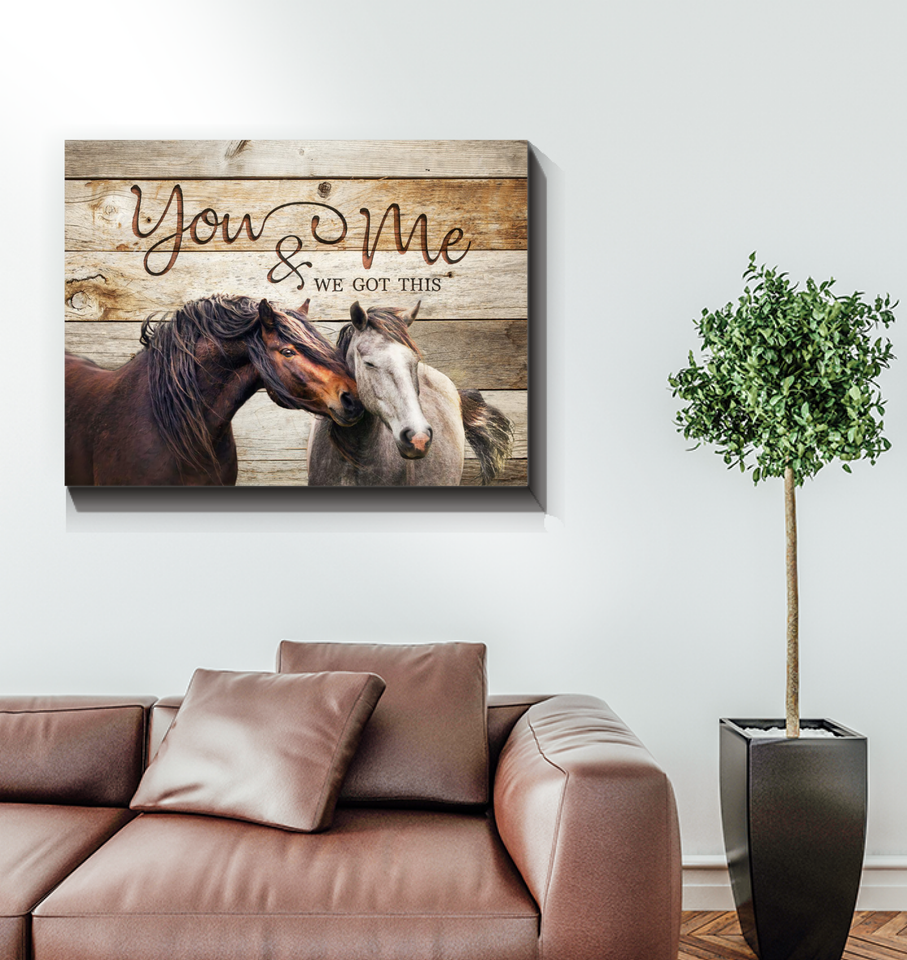 Canvas Horse You & Me