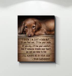 Gl Canvas Dachshund Just A Dog - Hayooo Shop