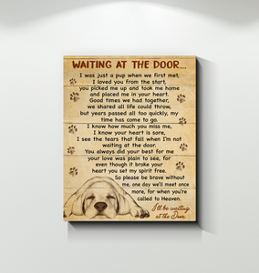 GL - Canvas - Labrador - Waiting At The Door