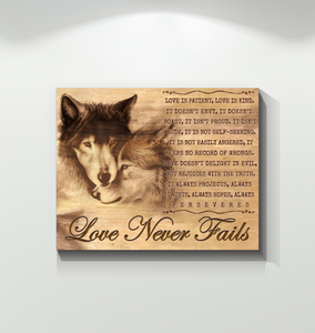 Canvas Wolf Love Never Fails Ver3 - Hayooo Shop