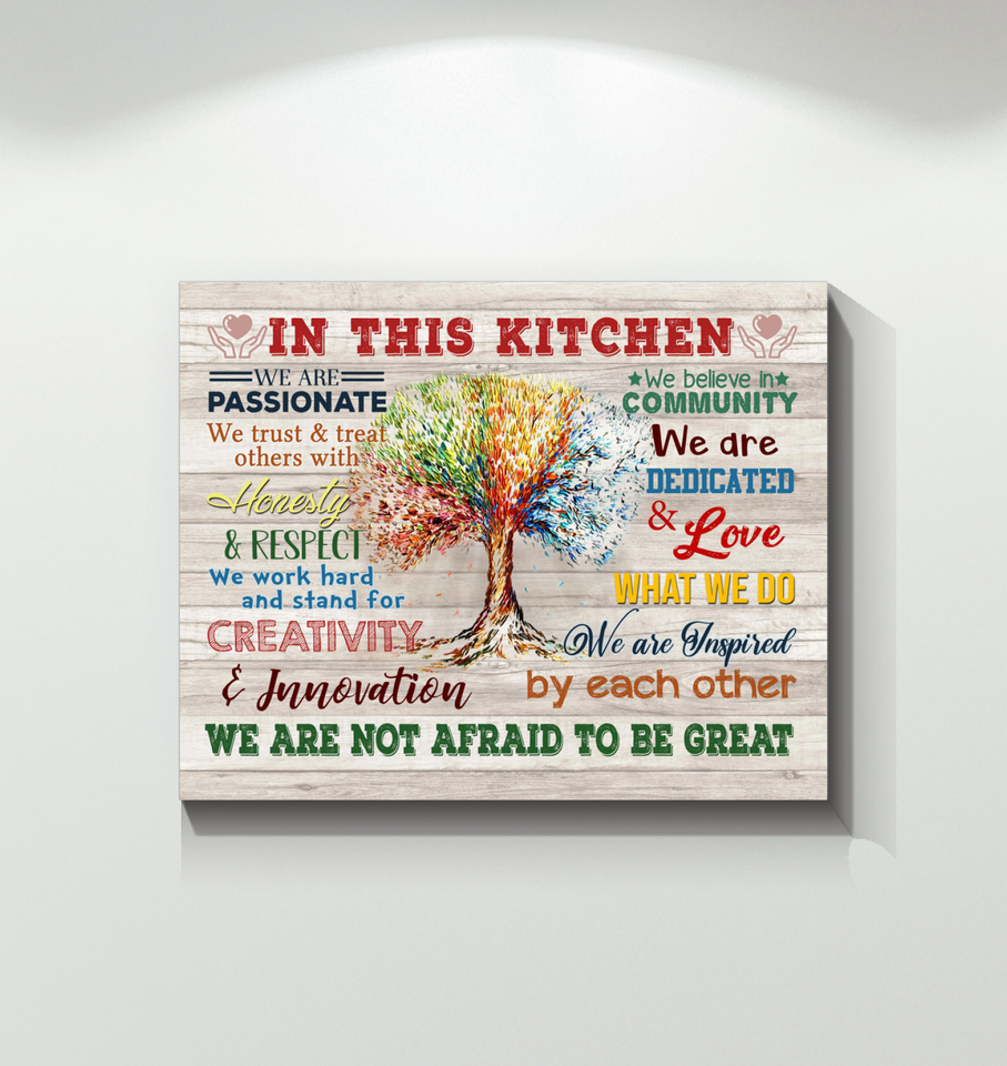 In This Kitchen Canvas We Are Not Afraid To Be Great Ver.5