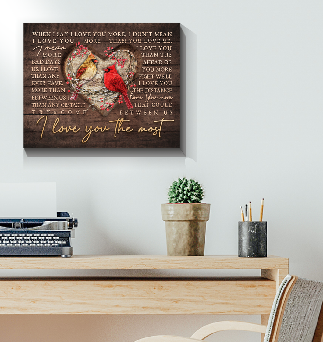 Canvas Cardinal I Love You The Most Ver4 - Hayooo Shop