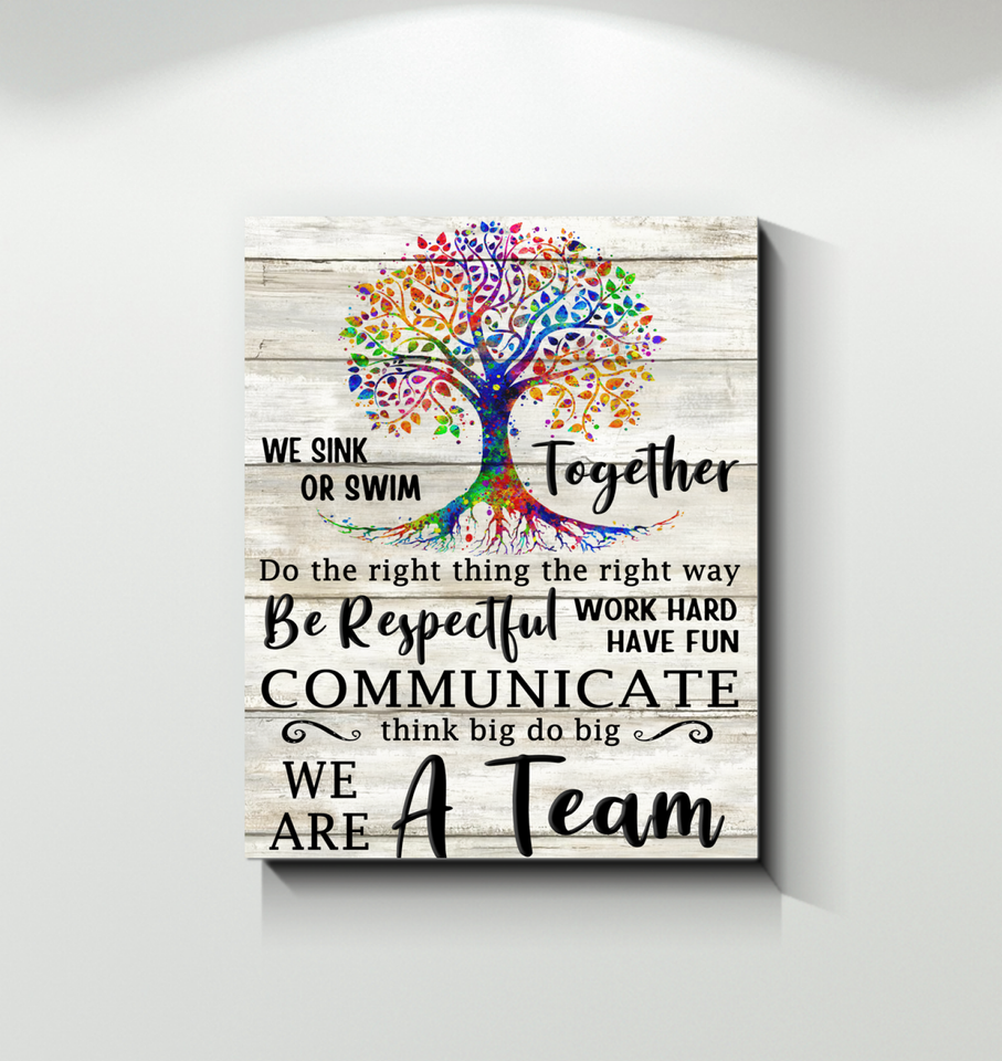 Canvas Job We Are A Team - Hayooo Shop