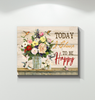 Hummingbird Canvas Today I Choose To Be Happy Ver.2