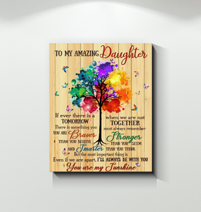 Family - Canvas - To my amazing daughter - I'll always be with you ver.2