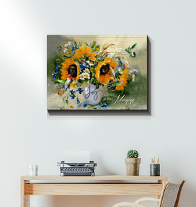 Hayooo Joy Comes In The Morning Hummingbirds Canvas Print Wall Art Decor