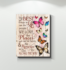 CANVAS - BUTTERFLY - THE BEST THINGS
