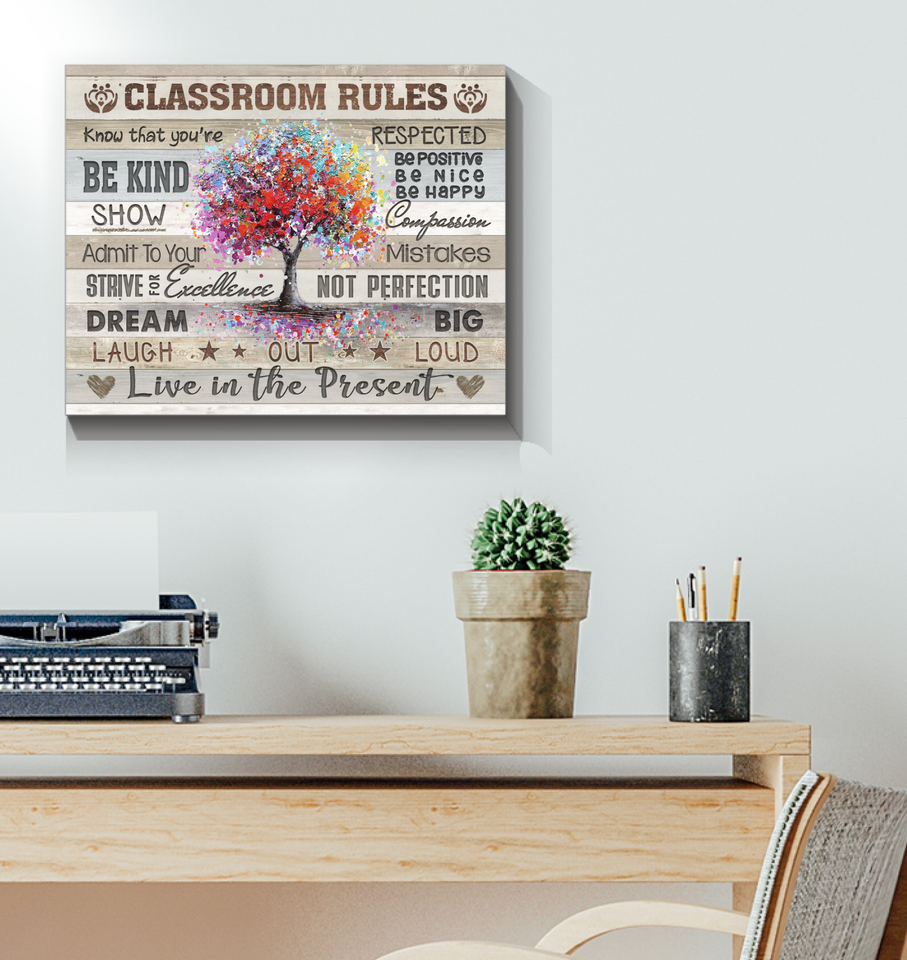 Canvas Classroom Rules - Hayooo Shop