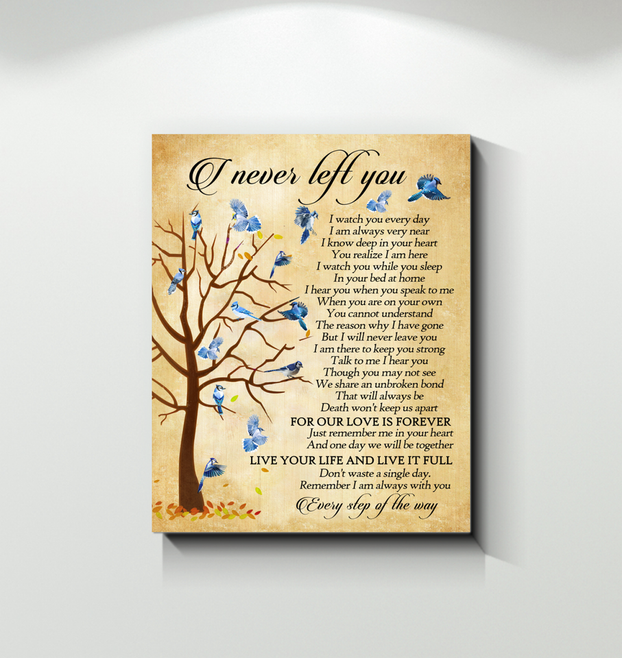 Gl Canvas Blue Jay Bird I Never Left You - Hayooo Shop