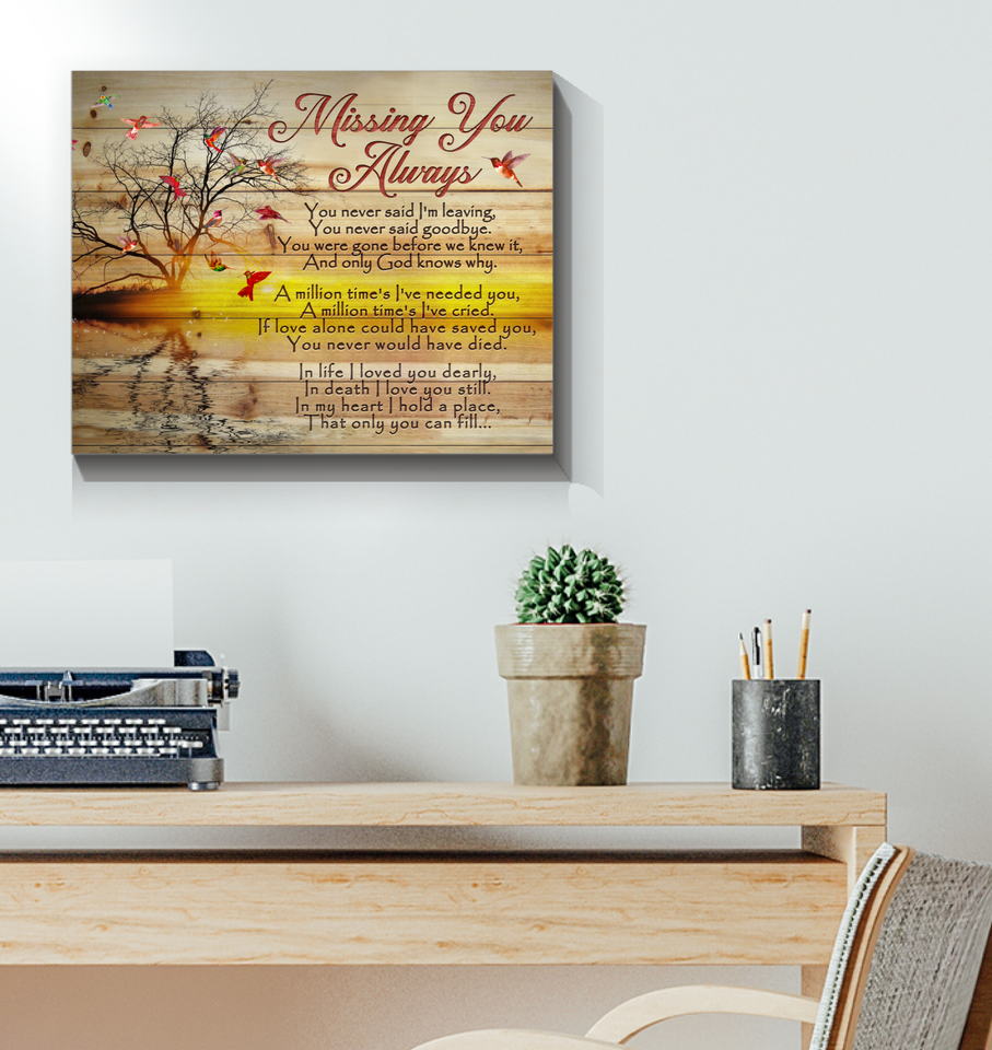 Canvas Hummingbird Missing You Always - Hayooo Shop