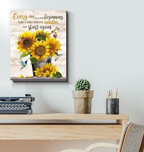 HUMMINGBIRD - Canvas - Every day is a new beginning