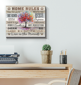 Canvas Home Rules - Hayooo Shop
