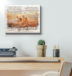 Canvas Buck&Doe To My Husband - Hayooo Shop