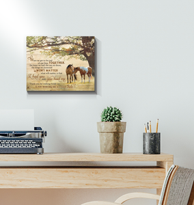 Canvas Horse I Had You & You Had Me - Hayooo Shop