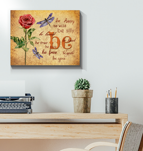 Canvas Dragonfly Be You - Hayooo Shop