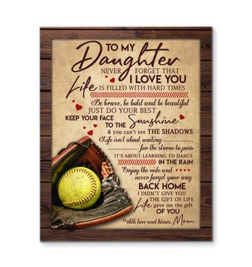 CANVAS - Softball - Daughter - Your way back home
