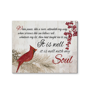 Canvas Cardinal It Is Well With My Soul (V.2) - Hayooo Shop