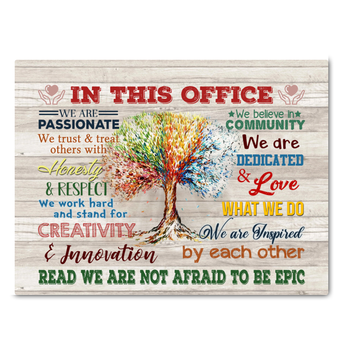In This Office Canvas We Are Not Afraid To Be Epic