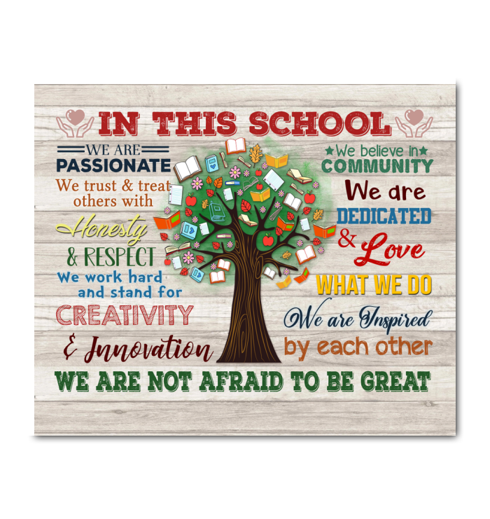In This School Canvas We Are Not Afraid To Be Great Ver.52