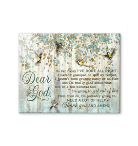 Sparrow - Canvas - Dear God - I'm probably going to need a lot of help