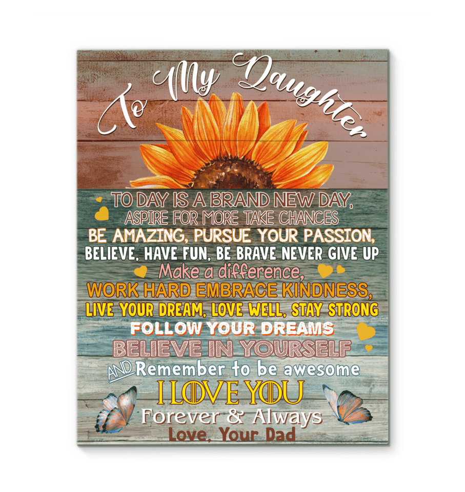 CANVAS - To my Daughter - Make a different - yenyenstore