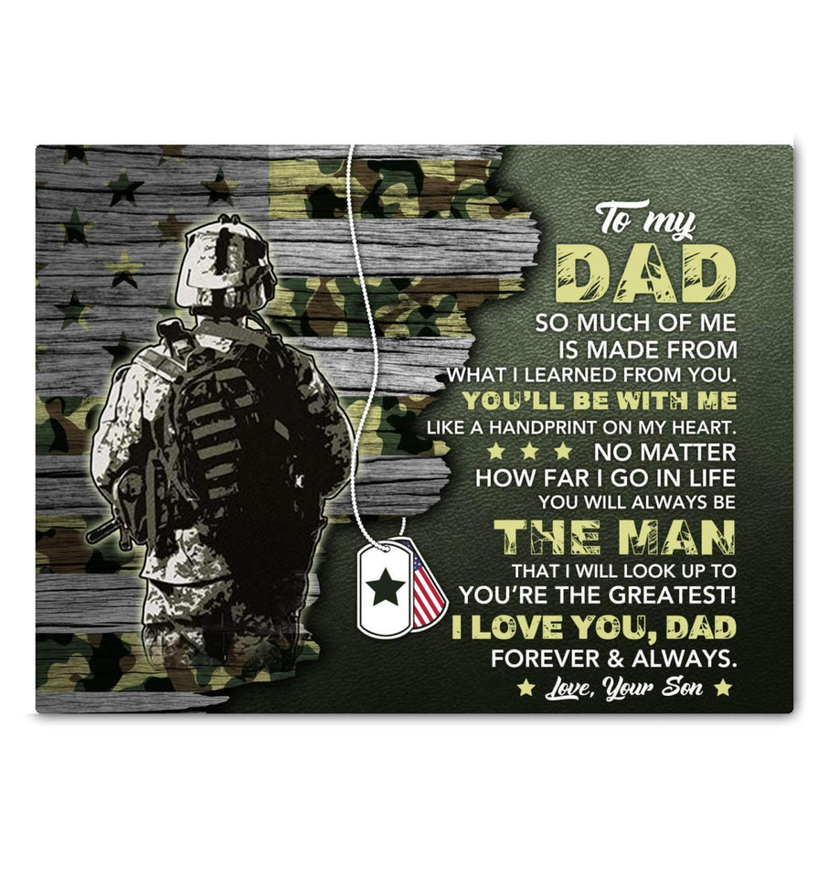 CANVAS - Veteran - Dad - Made from you - yenyenstore