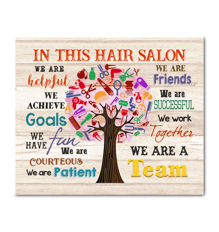 In This Hair Salon Canvas We Are A Team Ver.4 - Hayooo Shop