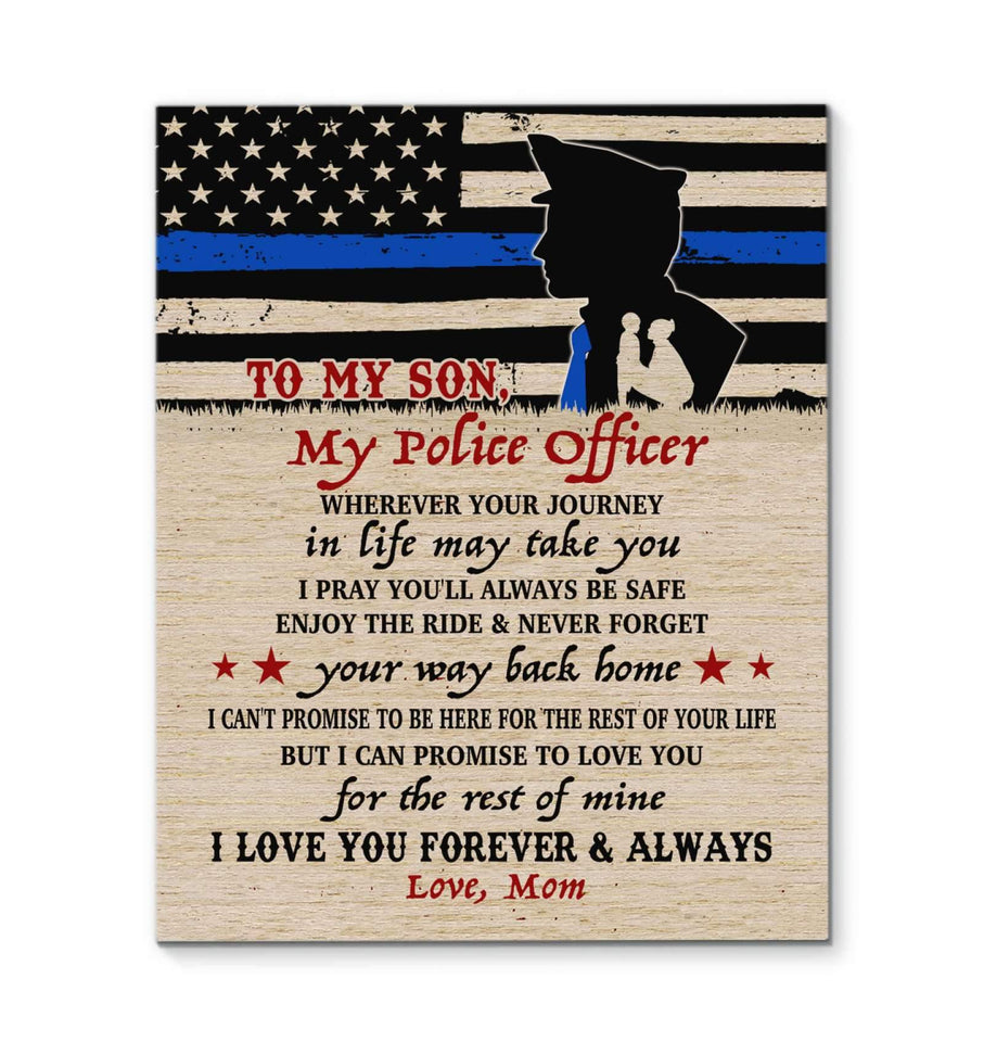 CANVAS - Police Son - Wherever your journey in life may take you - yenyenstore