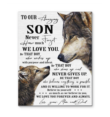 Wolf Canvas To My Amazing Son Believe In Yourself