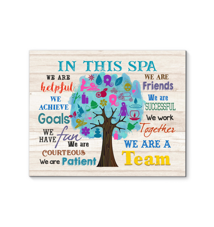 IN THIS SPA - Canvas - We are a team Ver.4
