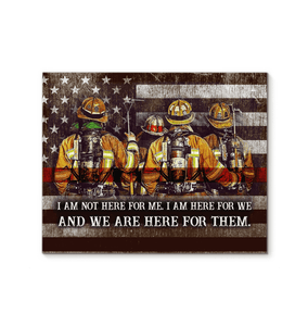 CANVAS -Firefighter - We are here for them (1 piece) - yenyenstore