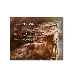 Horse Canvas She Is Strong - Hayooo Shop