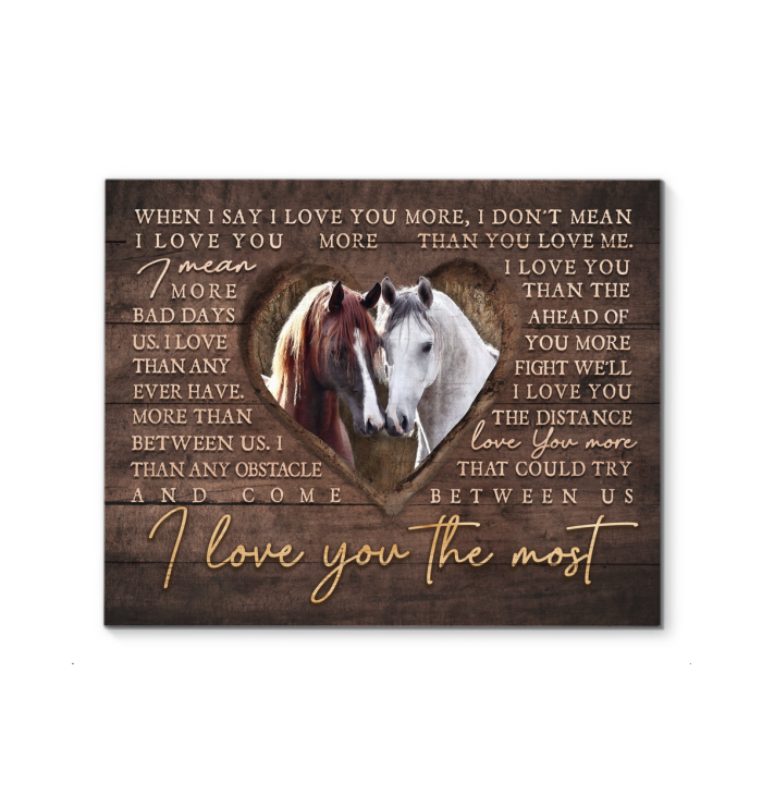 Canvas - Horse - I Love You The Most ver3