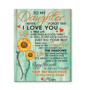 Canvas Daughter (Mom) You Are My Sunshine