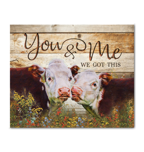 Canvas - Hereford Cow - You&Me ver2