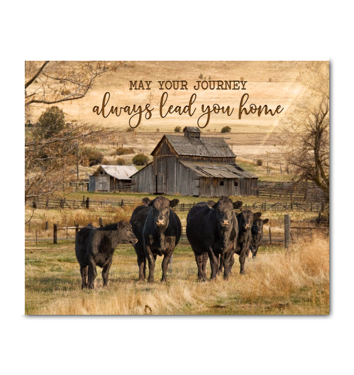 GL - Canvas - Cow - May Your Journey
