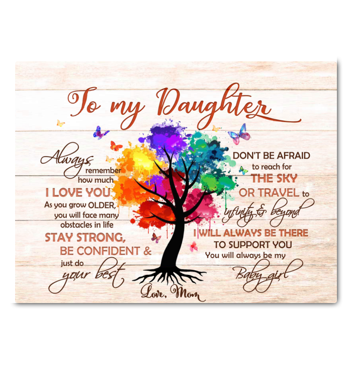 To My Daughter Canvas Reach For The Sky - Hayooo Shop