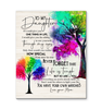 Family Tree Canvas To My Daughter (Mom) You Have Your Own Matches