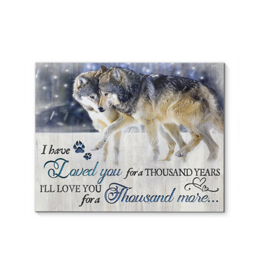 Canvas Wolf A Thousand Years - Hayooo Shop