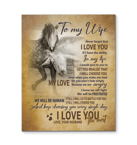 Hay Canvas Horse To My Wife I Will Choose You - Hayooo Shop