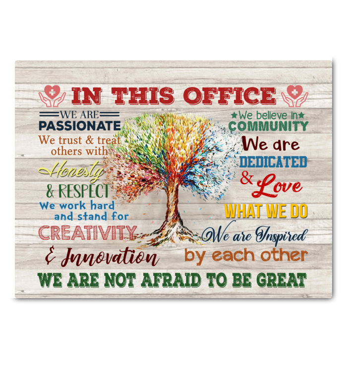 Medical In This Office Canvas We Are Not Afraid To Be Great Ver.5 - Hayooo Shop