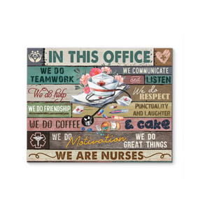 Canvas Nurse In This Office