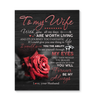 Canvas - Rose - To my wife - Forever be my always