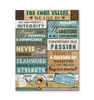 Canvas The Core Values We Live By