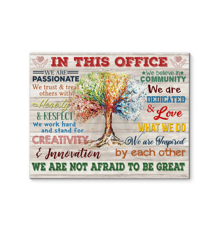Uk In This Office Canvas We Are Not Afraid To Be Great Ver.5 - Hayooo Shop
