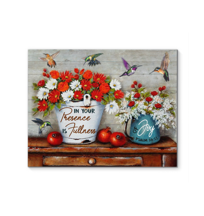 Canvas Hummingbird In Your Presence Is Fullness Of Joy