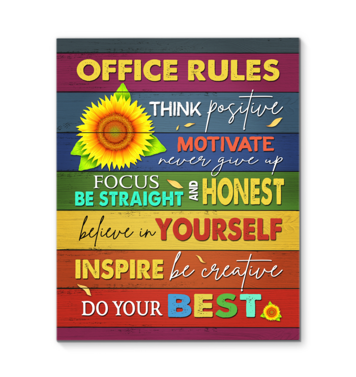 Canvas Office Office Rules2 - Hayooo Shop