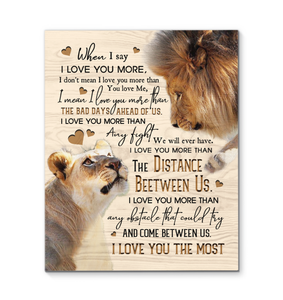 Canvas Lion I Love You The Most Ver2 - Hayooo Shop