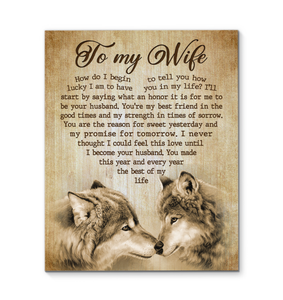 Canvas - Wolf - To my wife - How do I